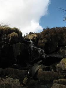 A waterfall along the Moyle Way, near Trostan, the highest point in Co. Antrim