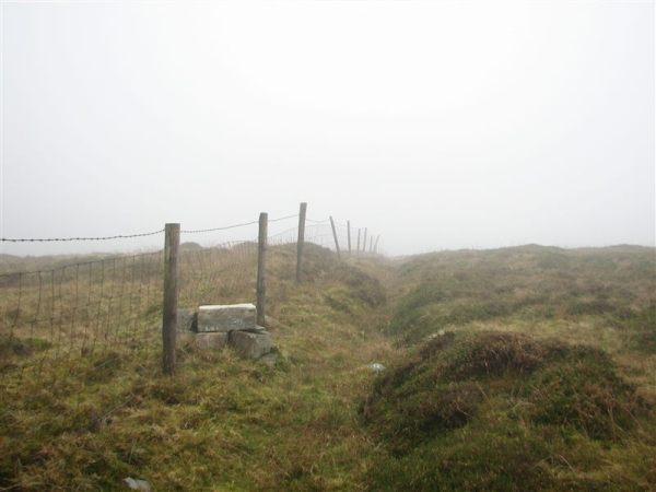 A crude stile, just before summit of Benbeg near Cuilcagh co. Cavan